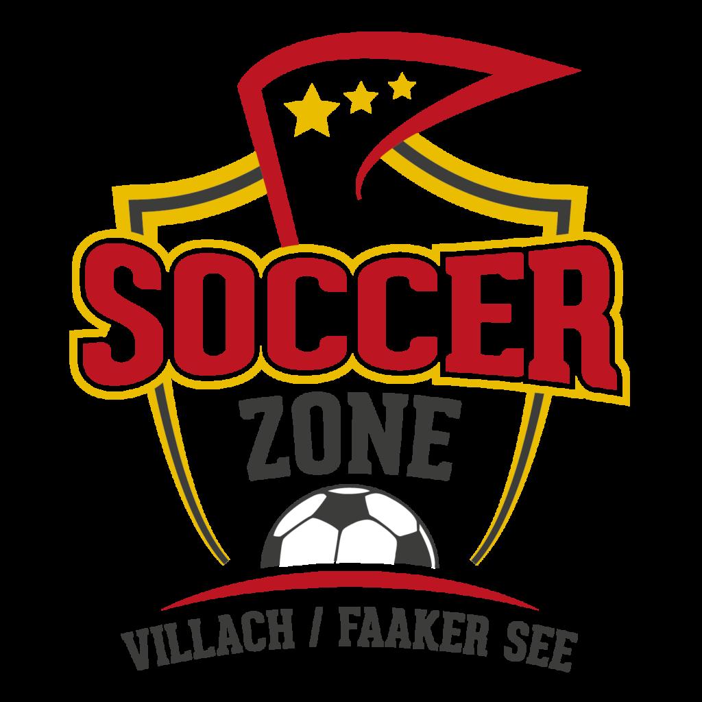 Das Logo von Soccerzone Villach, einer Fussballgolfanlage direkt am Faaker See