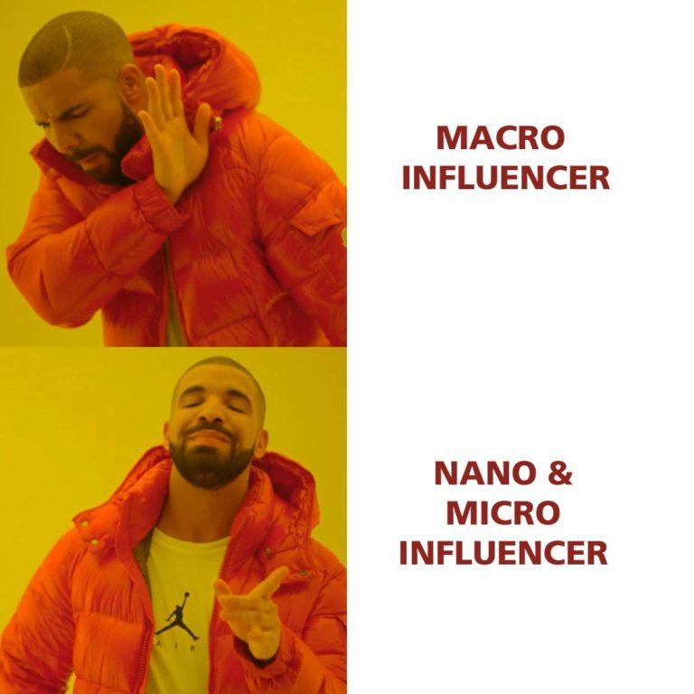 Macro vs Micro und Nano Influencer