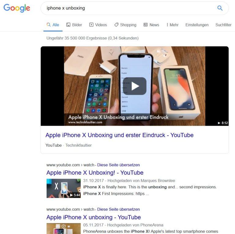 Iphone X Unboxing Google Suche