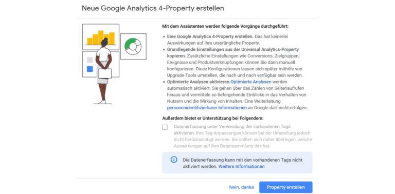 Google Analytics 4 Schritt 4 bestätigen