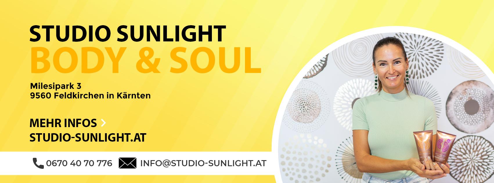 Facebook Banner für das Studio Sunlight Feldkirchen in Kärtnen