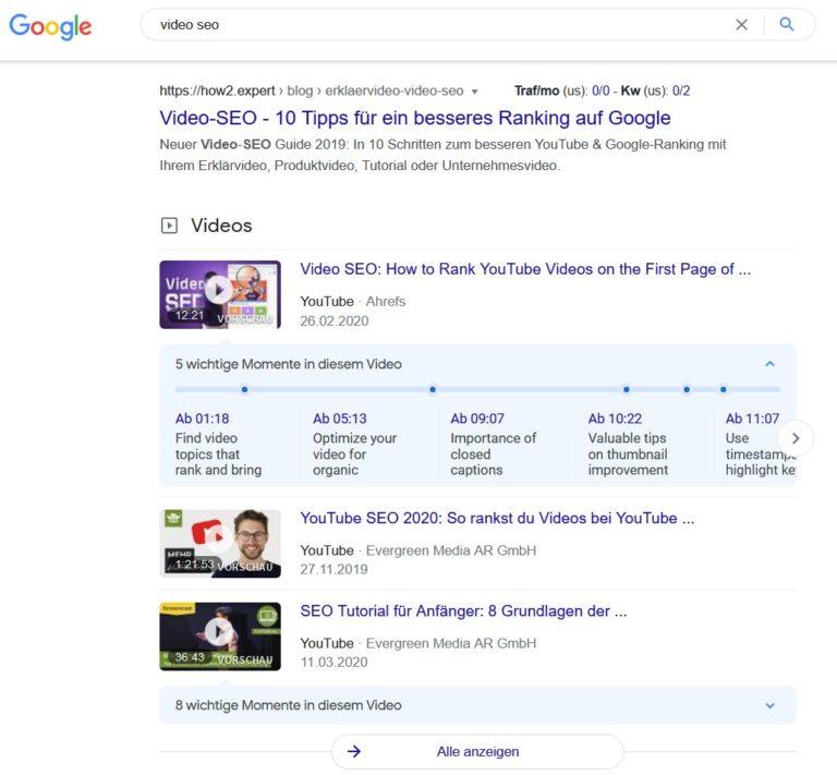 video seo trends 2021 google rankings